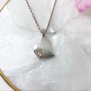 [Scott Kay] Eternity Hearts 14k & Silver Necklace